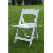 Белый складной стул смолы Уимблдон