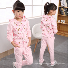 Hot Sale Spring and Autumn Children Clothing Girls Sport Suits