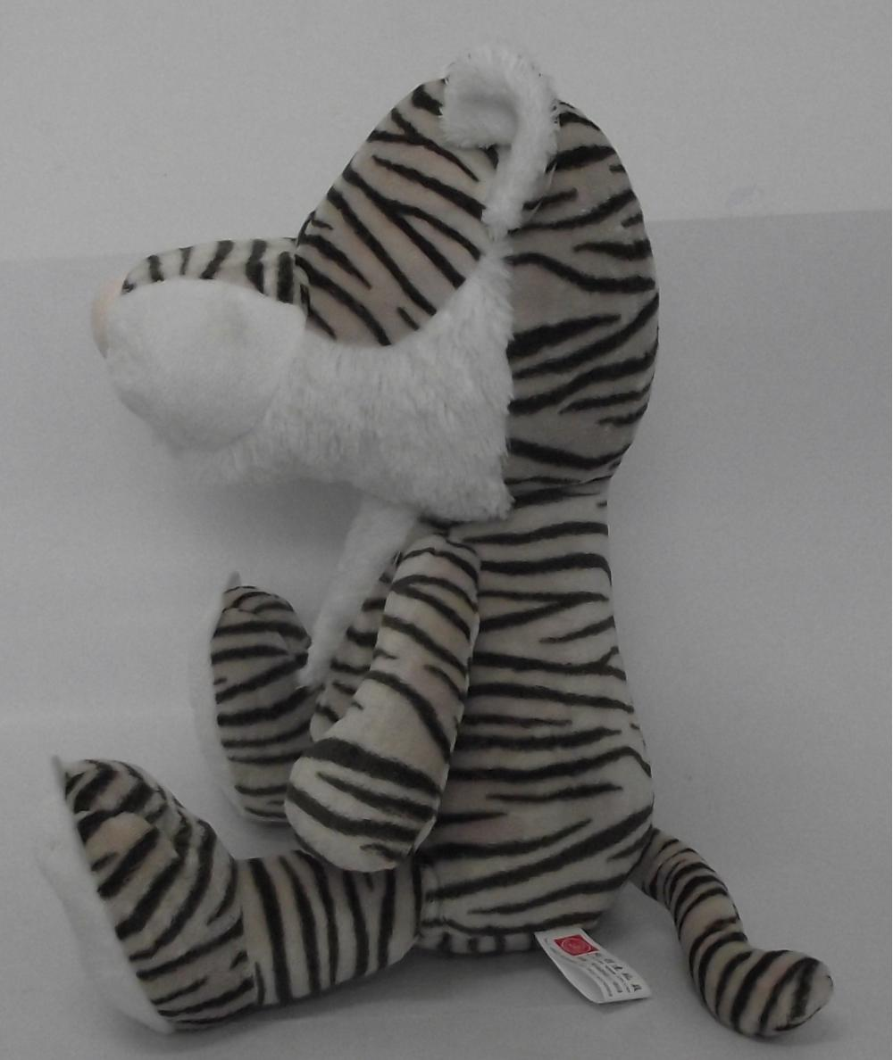 Black and white stripes posture tiger plush toys