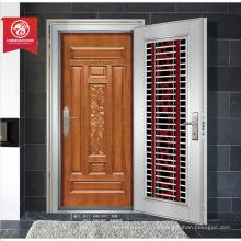China best-seller estilo moderno calificado puerta de seguridad / puerta de seguridad