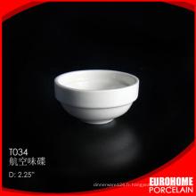 compagnie aérienne restaurant gros utiliser petite assiette en porcelaine blanche