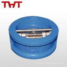 plaquette à double disque petite soupape de retenue en plastique duplex