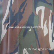 Coated printed camouflage fabric, made of 100% polyester,waterproof, for tent, outdoor clothing