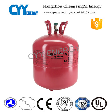 Venta caliente pequeño cilindro de gas de helio para globo