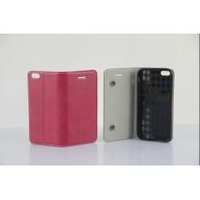 2013 date portefeuille PU étui en cuir véritable pour iPhone 5
