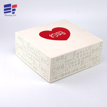 Europe style for Clothing Paper Gift Box Red hot stamping paper clothing packaging box supply to Spain Wholesale
