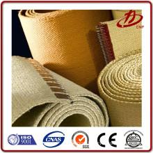 Double backer woven corrugated belts