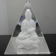 Presse-papier de pyramide de verre en cristal pour la décoration à la maison