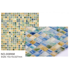 Colorful frosted glass mosaic tiles