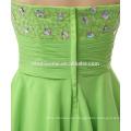 Cena de noche por encargo vestido corto fajín de color verde elegante capas de taobao vestido de noche