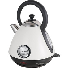 Stainless Steel Cordless Pyramid Electric Kettle with Thermometer Sb-3019nt