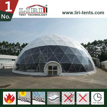 Белый Открытый геодезический купол шатер, половина купол палатки для рекламы