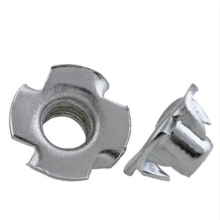 High quality  Stainless Steel 4 Pronged Tee T Nut For Wood Cabinetry
