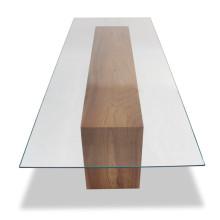 Verre trempé de table à manger rectangulaire de taille claire