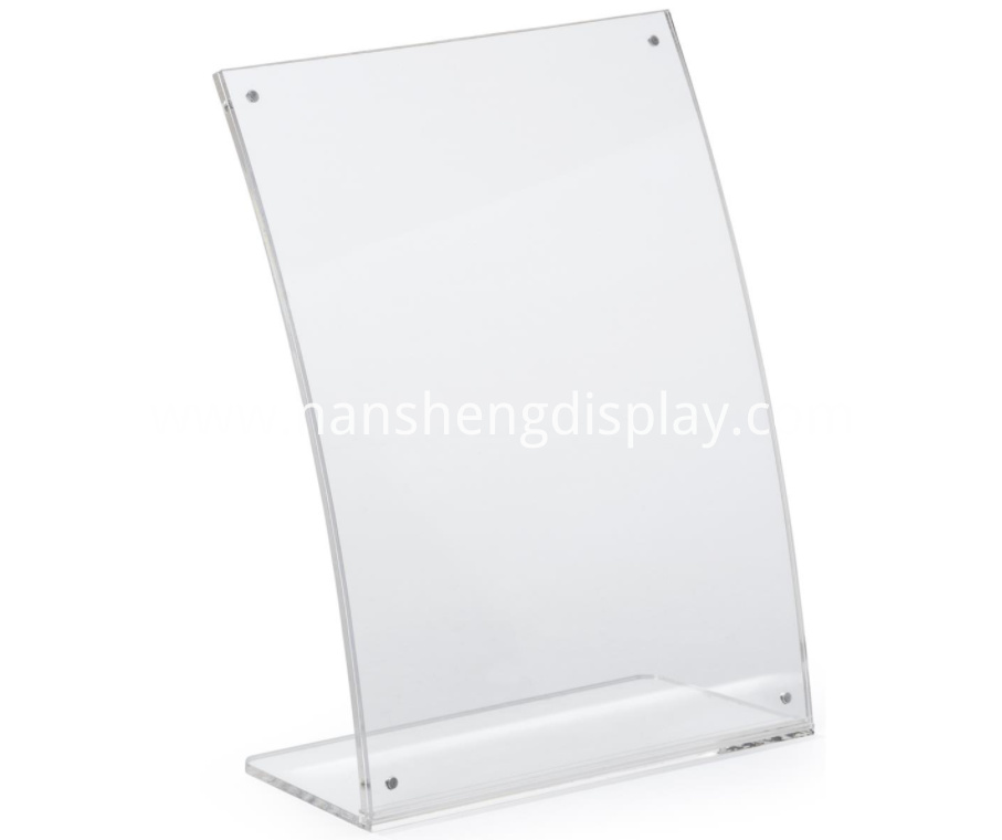 Acrylic Sign Holder for Desktop