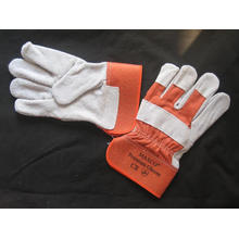 Orange Cow Split Leather Full Palm Working Glove-3056.10