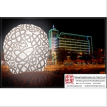 Stainless Steel Beautiful Light Sculpture for Hotel