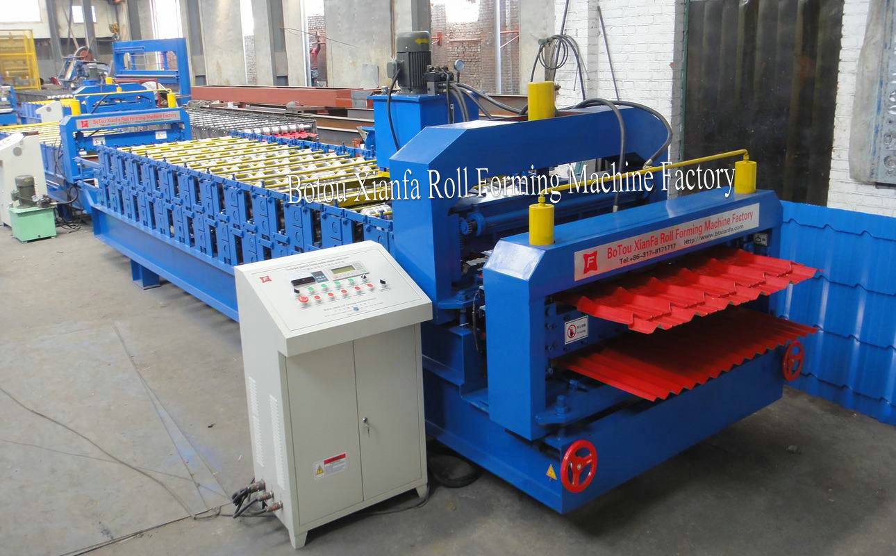 glazed + corrugated tile forming machine