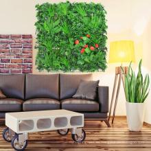Decoración interior artificial paredes enrejadas de seto con follaje