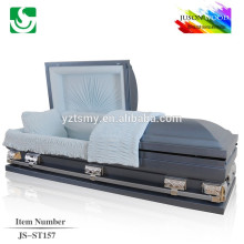 JS-ST157 luxury Metallic casket supplier