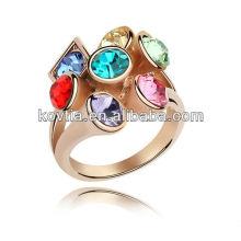 Atacado bonito noivas anéis de casamento de diamante