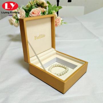Leather Bracelet Boxes Jewellery Packing Wooden Bracelet Box
