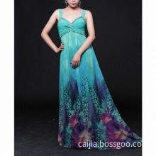 Printing Nail Bead Style Cocktail Dress with Long Skirt , Used for Party