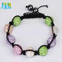 pulsera hecha a mano de shamballa de cráneos de diamantes de imitación XLSBL084