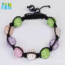 handmade rhinestone skulls shamballa bracelet XLSBL084