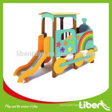PE Board Newly Designed Car Kids Playset with Stainless Steel Slide