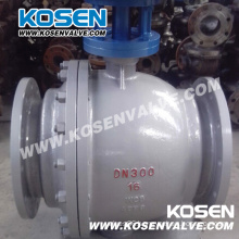 Gear Box Cast Steel Trunnion Ball Valves