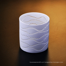 Castiçal perfurado cerâmico da luz do chá
