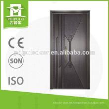 Puerta blindada de seguridad con placa de aluminio.