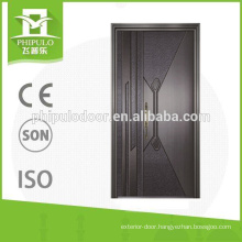 Bullet proof security door with aluminum plate