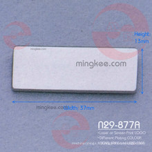 Étiquette rectangulaire en métal avec logo personnalisé du sac / sac à main de la femme (N29-877A)
