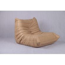 buff leather Togo sofa
