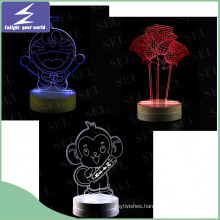 LED Newest Creative Gift 3D Night Light for Wedding Gift