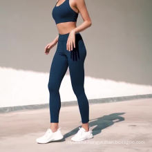 Good Sale Custom Workout Yoga Sets Clothes Fitness Yoga Leggings Seamless Gym Tights and Sports Bra Set For Women
