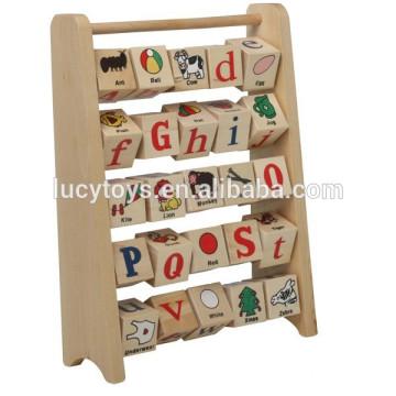Educational Toy Wooden Alphabet rack