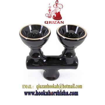 Doble cabeza cachimba tazón de cerámica accesorios de la cachimba