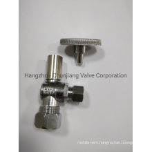 1/4 Quick Turn Brass Angle Stop Valve with Loose Key (QJ04K)