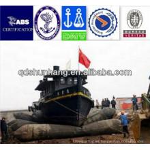 utilizado para la instalación del puente del pontón tubo inflable del barco de la goma natural