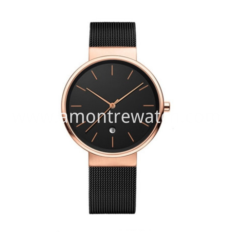 Rose Gold Man Watch
