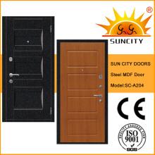 Puertas de acero decorativas interiores del panel de MDF (SC-A204)