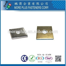 Taiwan Stainless Steel 18-8 Copper Brass Aluminum Square Washer Square Plate Washers Square Hole Washer