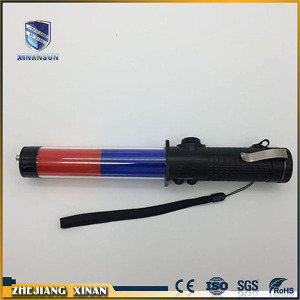 three colors led rechargeable magic traffic baton