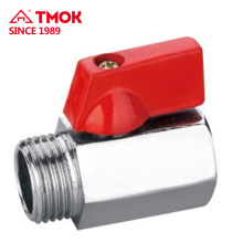 buen uso Male * Female thread chrom plateado Alta calidad de latón mini ball valve