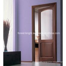 Soundproof Glass Room Veneered Interior Door