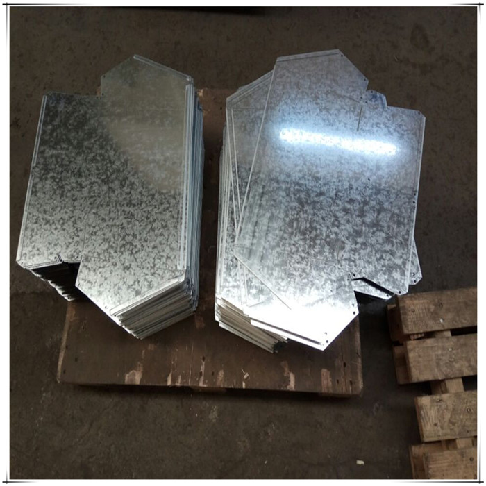 Galvanized steel laser cutting
