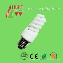 Luces T2 11W CFL lámpara (VLC-MFST2-11W) ahorro de energía espiral completo